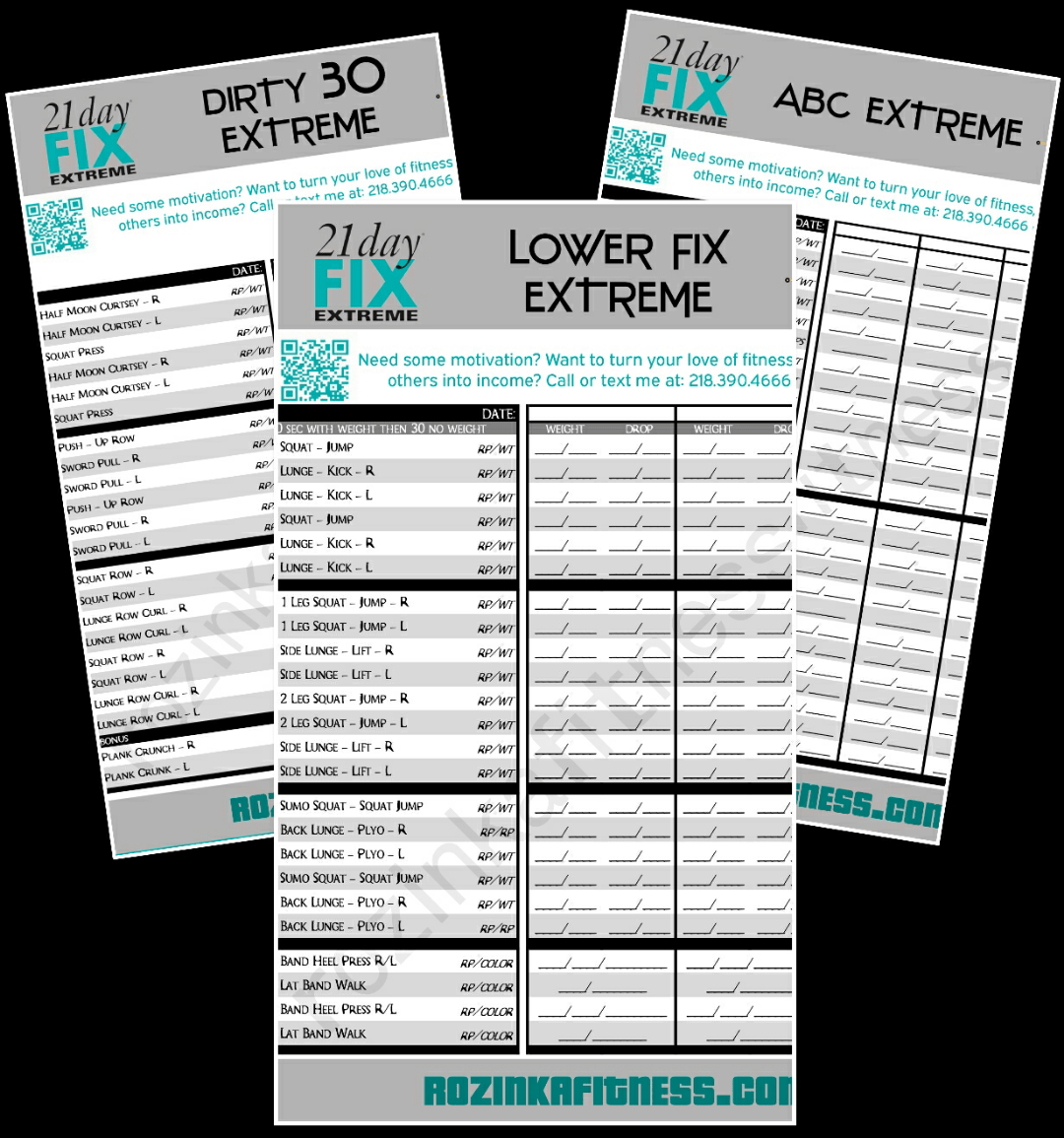 21 Day Fix Extreme Worksheets