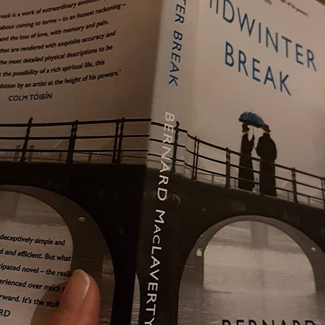 Midwinter break by Bernard Mac Laverty.  So far it's gripping me. Love the narrative style and the feeling that something is not quite right in the marriage of the couple in this story.