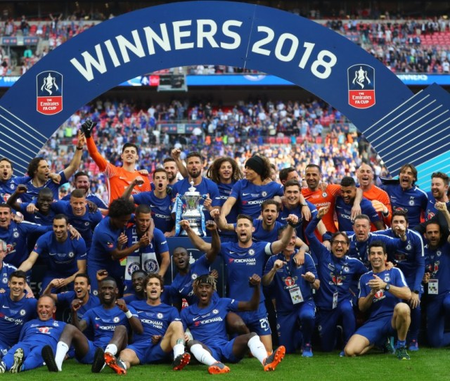 Chelsea With The Fa Cup