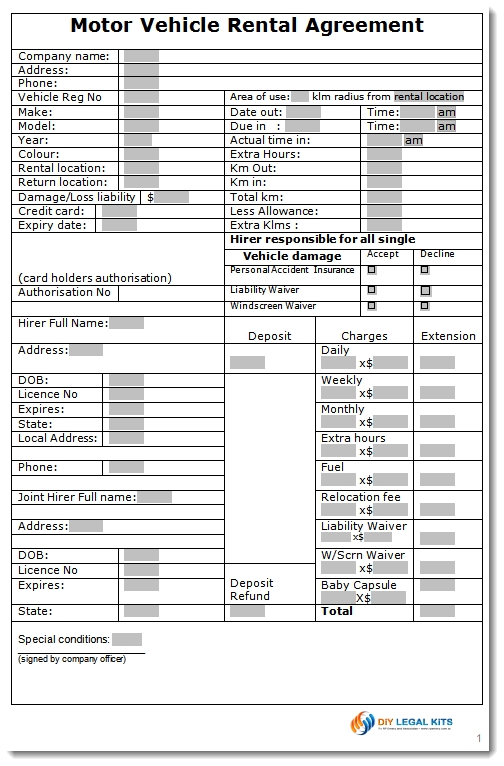 Car Rental Form Template. invoice freewordtemplates net. printable ...