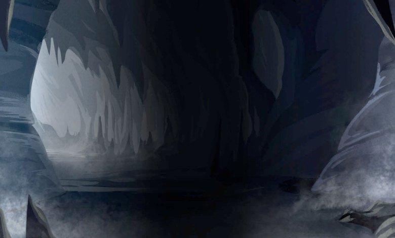 Imagem do podcast TESTE 5 do RPG Next - Ilustração de caverna escura