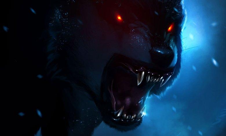 Erevan em forma de lobo atroz rosnando - Imagem do Tarrasque na Bota 14 - A mina perdida de Phandelver - Episódio 14 - Muita porrada e auuu