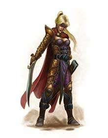 The Art of Eric Lofgren Female Elf Fighter 2