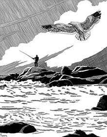 The Art of W Fraser Sandercombe: Gone Fishing