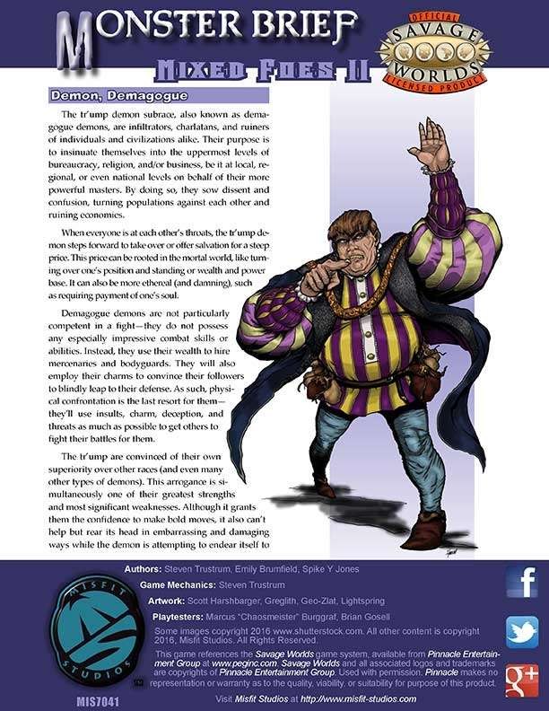 Monster Brief: Mixed Foes II
