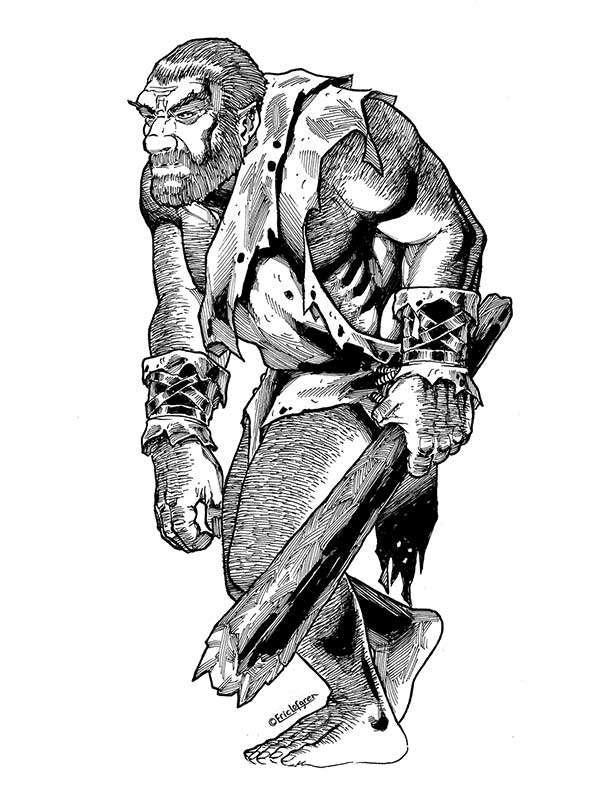The Art of Eric Lofgren Hairy Brute