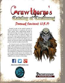 Crawthorne's Catalog of Creatures: Doomed Savant for the Pathfinder RPG
