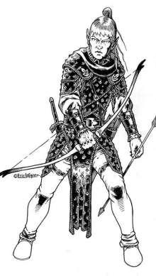 The Art of Eric Lofgren Elven Archer