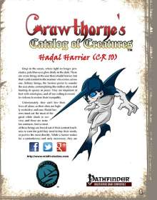 Crawthorne's Catalog of Creatures: Hadal Harrier for the Pathfinder RPG