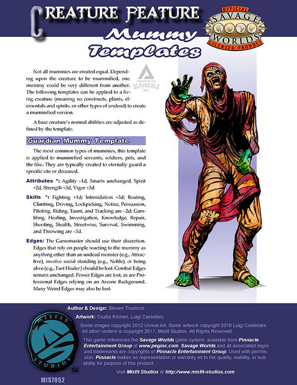 Creature Feature: Mummy Templates for Savage Worlds