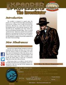 Expanded Professions: The Investigator