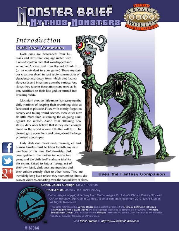 Monster Brief: Mythos Monsters