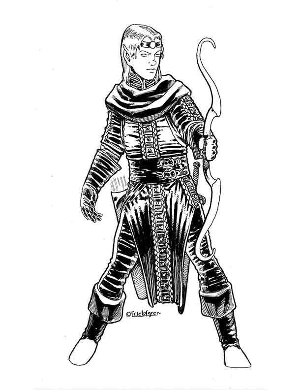 The Art of Eric Lofgren Elven Archer 2