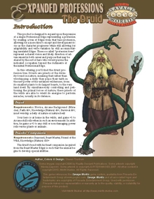 Savage Worlds Expanded Professions: the Druid