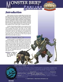 Monster Brief: Goblins