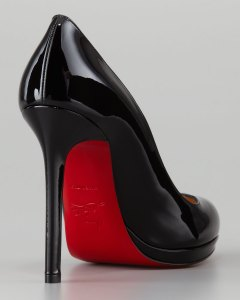 Christian Louboutin Neofilo Patent Round-Toe Red Sole Pump Black 120 mm_02