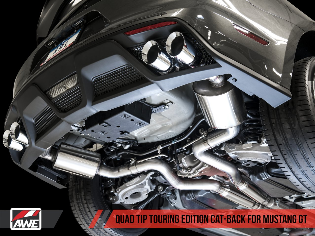 2015 2017 mustang gt awe quad tip exhaust switchpath touring edition