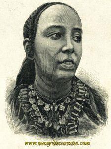 La reine Taitu Betul , épouse de Menelik II