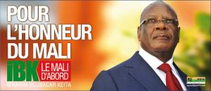 Une affiche de campagne du président IBK