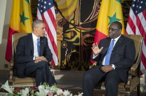 Barack Obama lors de saz visite au Sénégal reçu par Macky Sall
