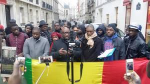 Manifestation pour la carte NINA et contre l'accord de réadmission
