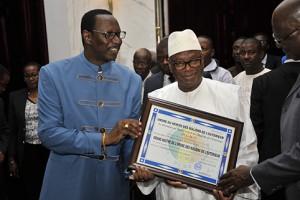 IBK et Habib SYLLA du haut conseil des maliens de l'extérieur