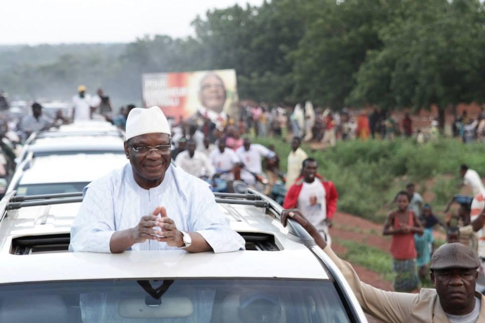 Le président IBK en campagne électorale