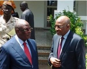 Le président IBK et son premier ministre Soumeilou Boubèye Maiga