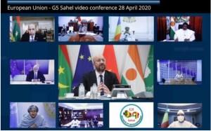 Capture Visio conférence UE G5 Sahel