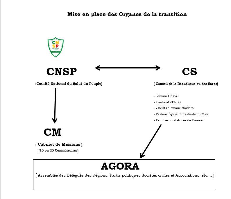 Schéma d'une proposition pour une transition démocratique réussie au Mali