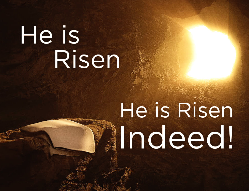 Image result for christ is risen he is risen indeed