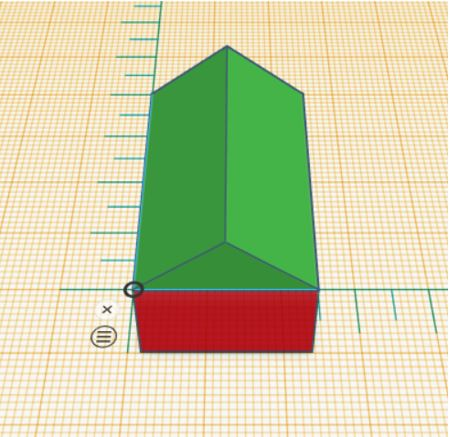 TinkerCAD Tutorial: Both Shapes Snapped to Reference Point