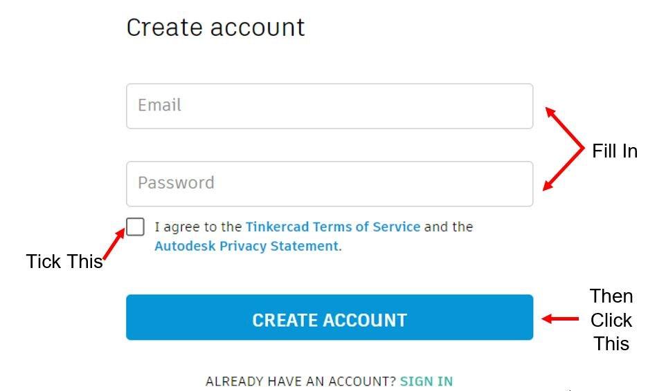 Create Autodesk Account