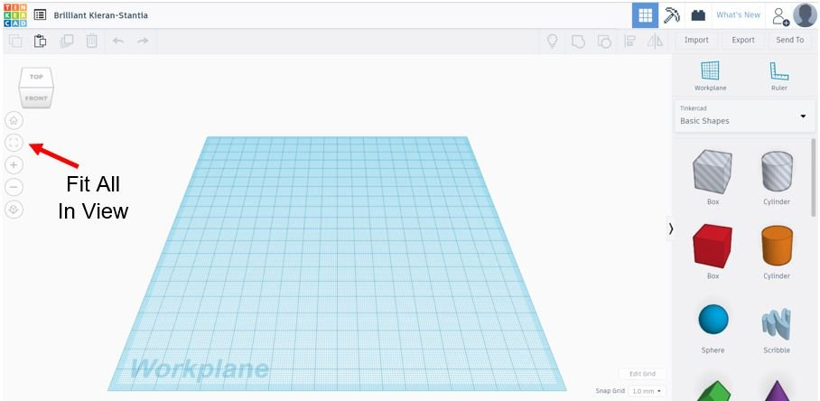 TinkerCAD Tutorial: Fit All In View