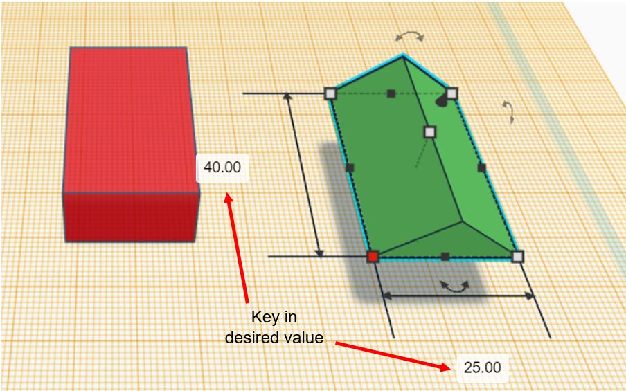 TinkerCAD Tutorial: Key In Value for Length and Width