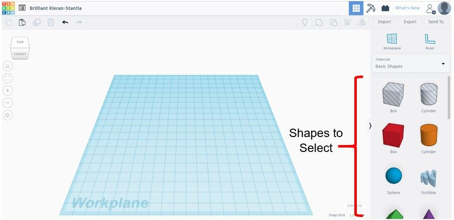 TinkerCAD Tutorial: Selecting Shapes