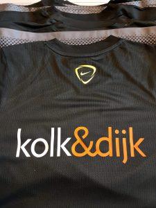 Bedrijfslogo op een voetbalshirt!!!