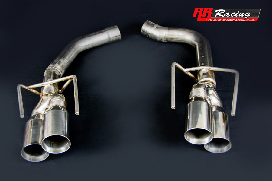 rr racing quad tip bazooka exhaust system for lexus is f