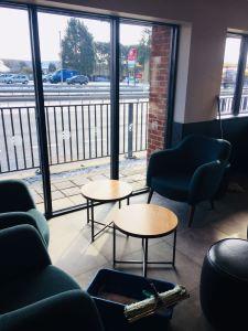 Starbucks view from inside
