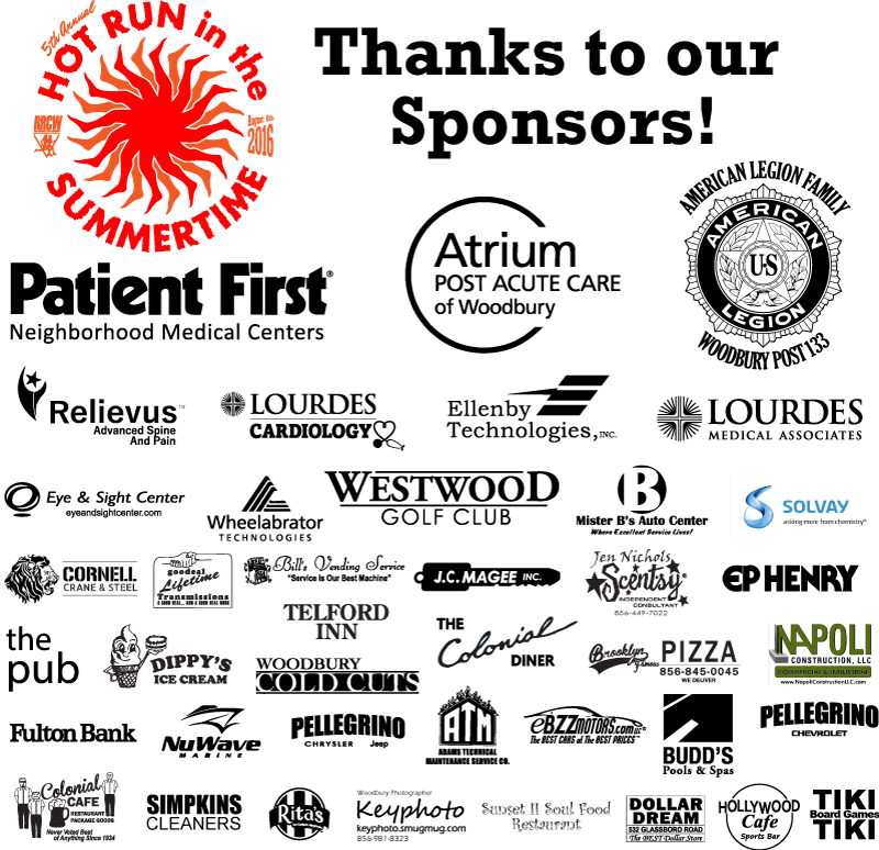 Hot Run Sponsors Thank You 2016