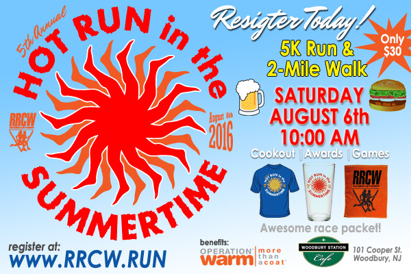 Register Today for the Hot Run in the Summertime 5K