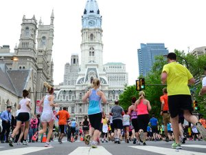 Broad Street Run at Philadelphia City Hall