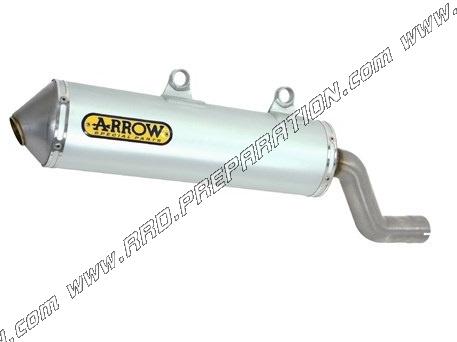 exhaust silencer arrow enduro alumilite homologated for motorcycle kawasaki klr 650 from 2001 to 2005 www rrd preparation com