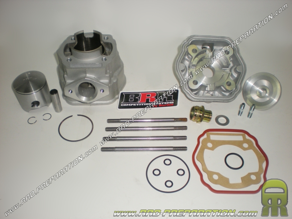 kit 80cc high engine o50mm barikit brk racing retocados prepared aluminum derbi euro 3 www rrd preparation com