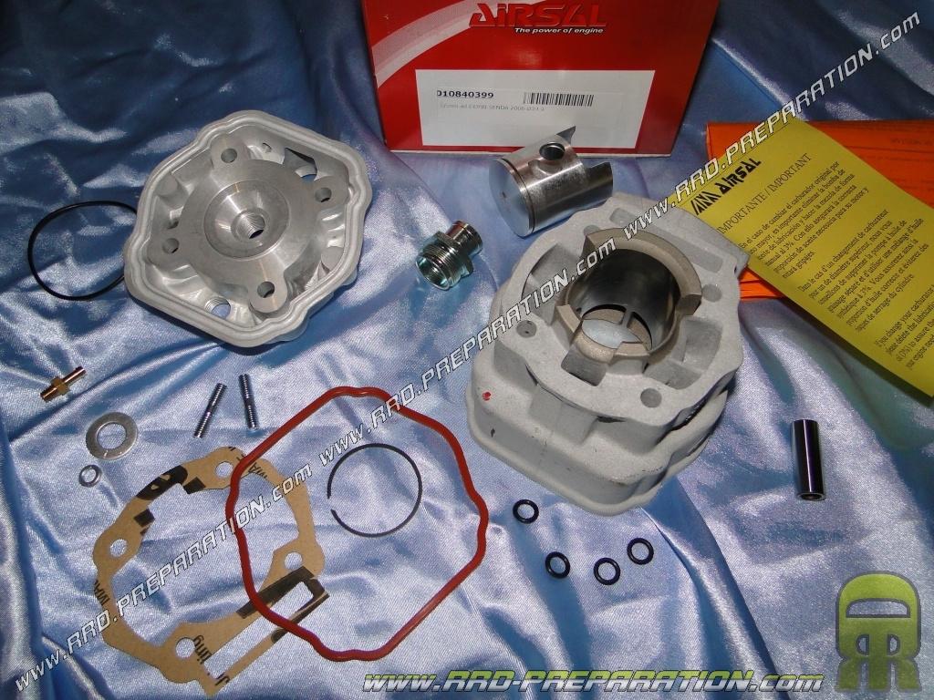 kit 50cc high engine o40mm airsal sports mono segment aluminum derbi euro 3 www rrd preparation com