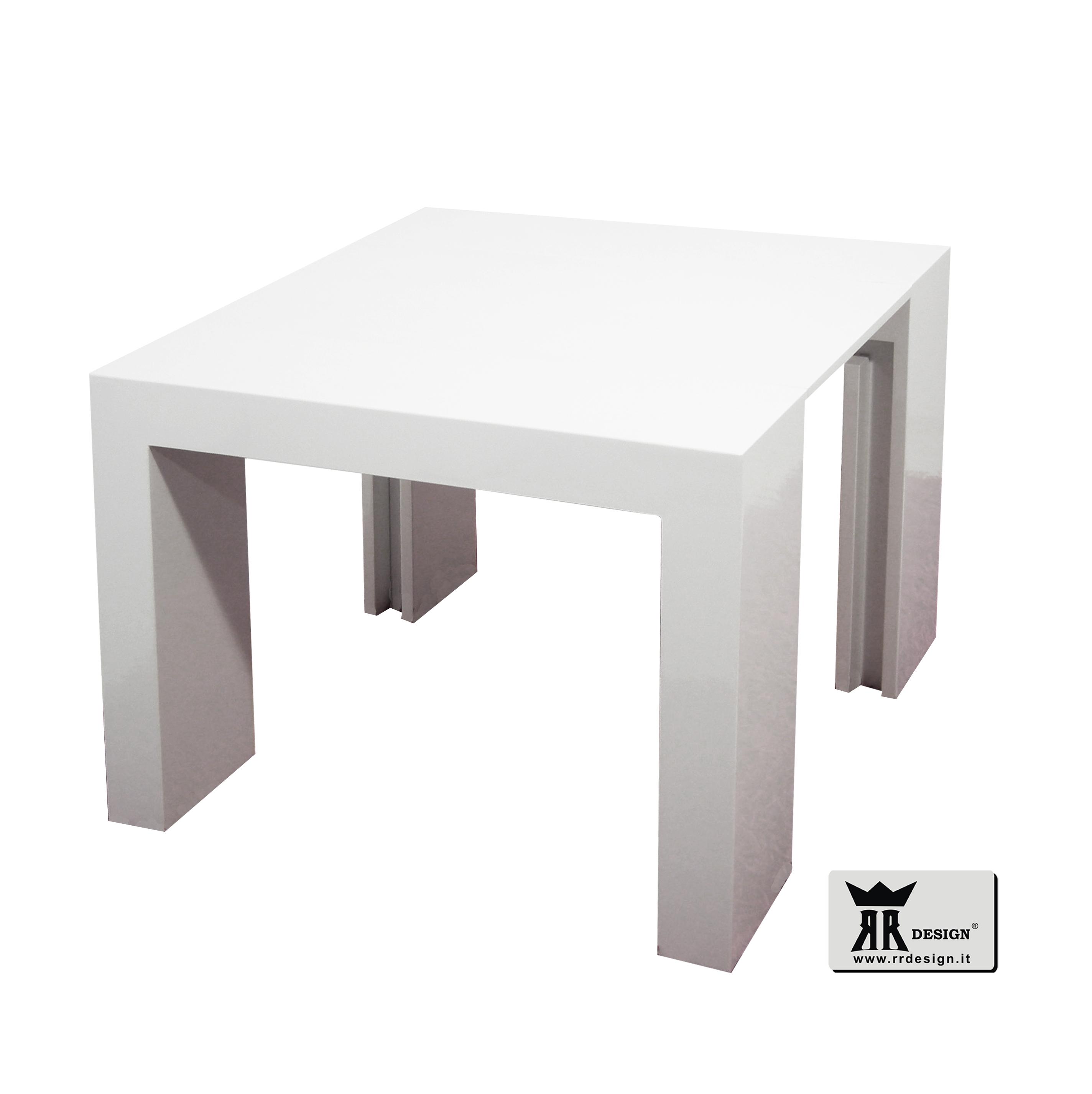 Tavolo Consolle Allungabile Nero.Tavolo Consolle Allungabile Laccato Nero Lucido 3 Metri 45x95