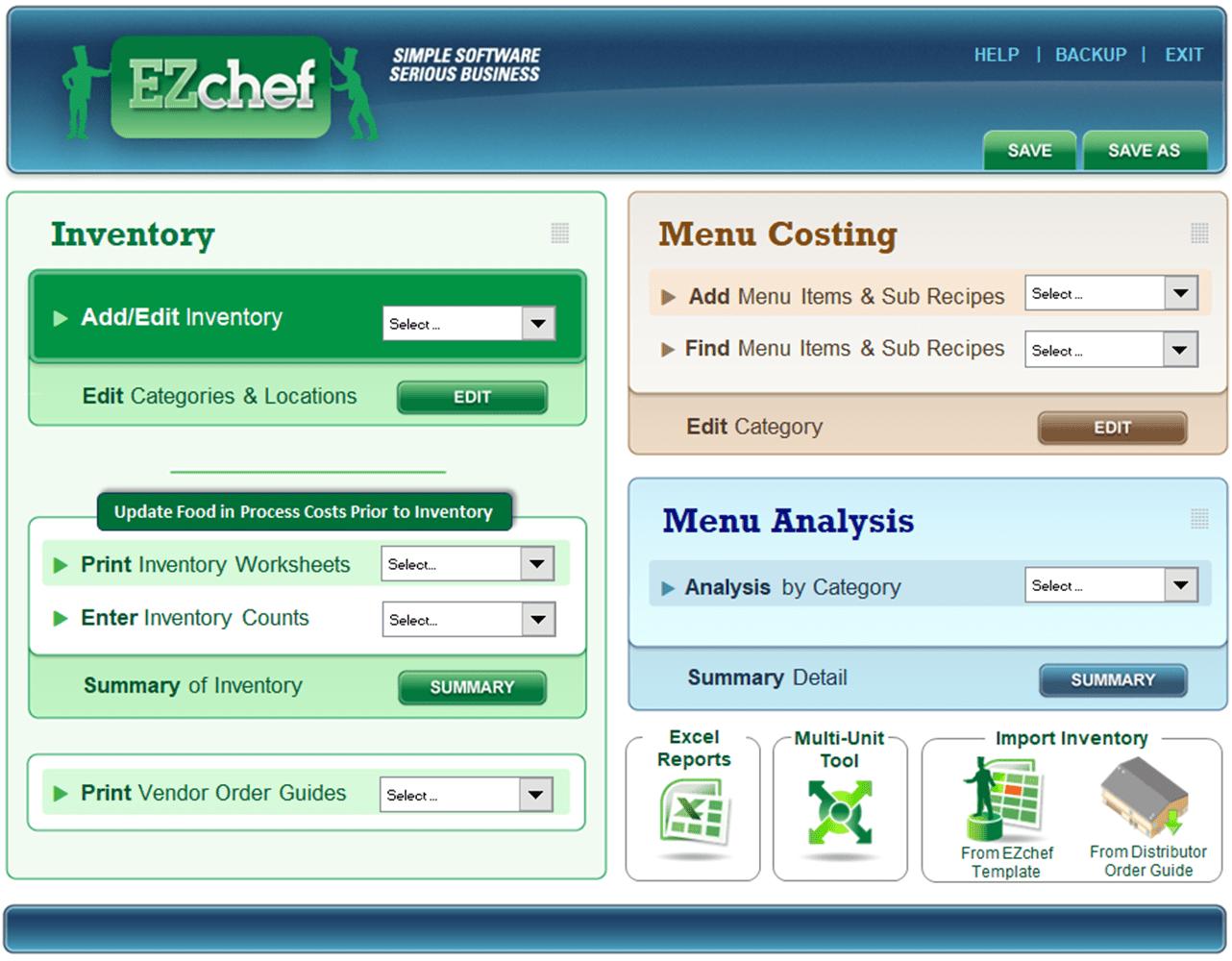 Restaurant Resource Group Ezchef Software Inventory