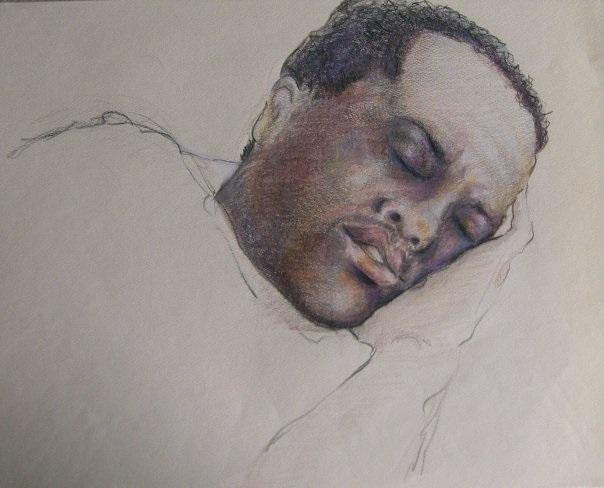"""Alvin Resting - Colored Pencil - 9"""" x 12"""""""