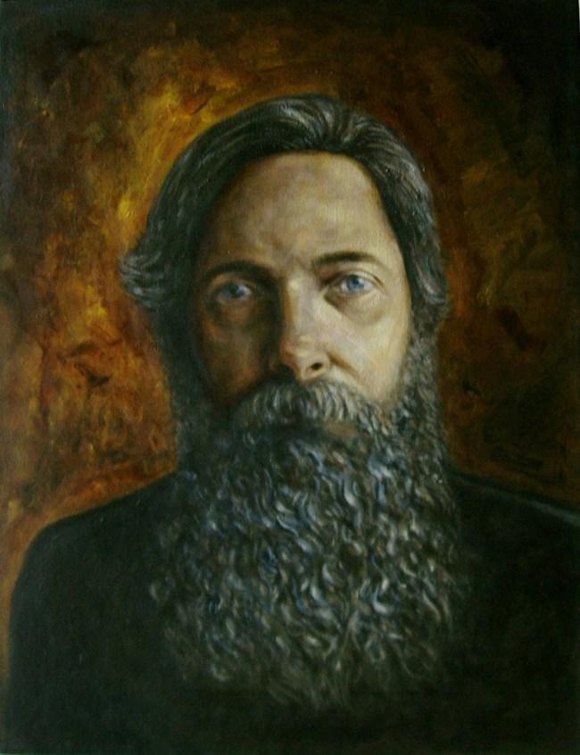 "Bill Schaeffer - Acrylic on Canvas - 14"" x 18"""