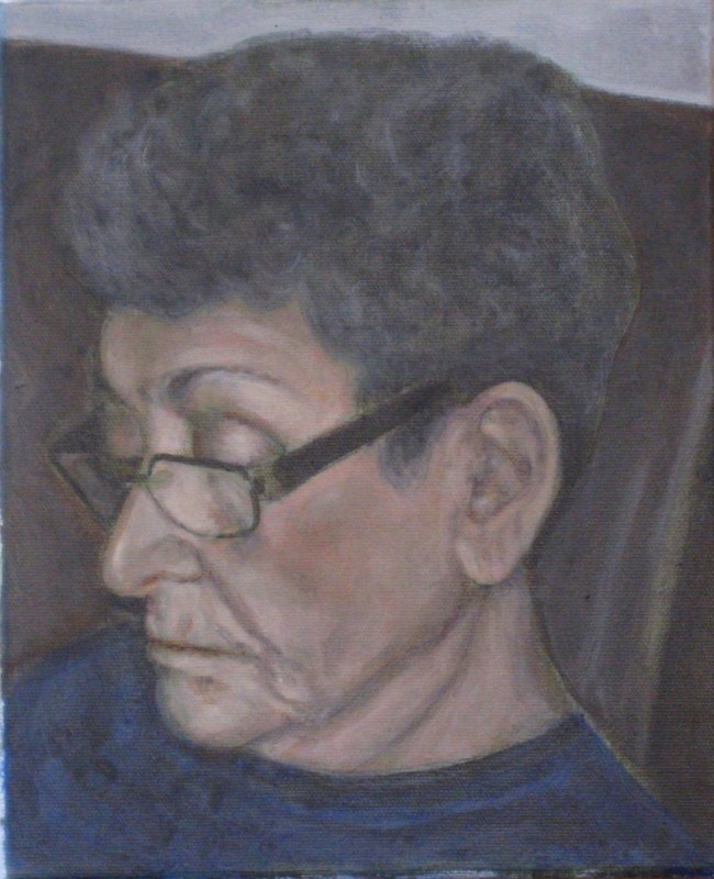 "Blanche Ingram - Acrylic on Canvas - 9"" x 12"""